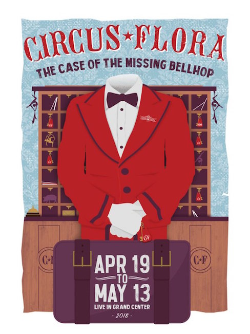 'The Case of the Missing Bellhop' poster, Image courtesy of Circus Flora