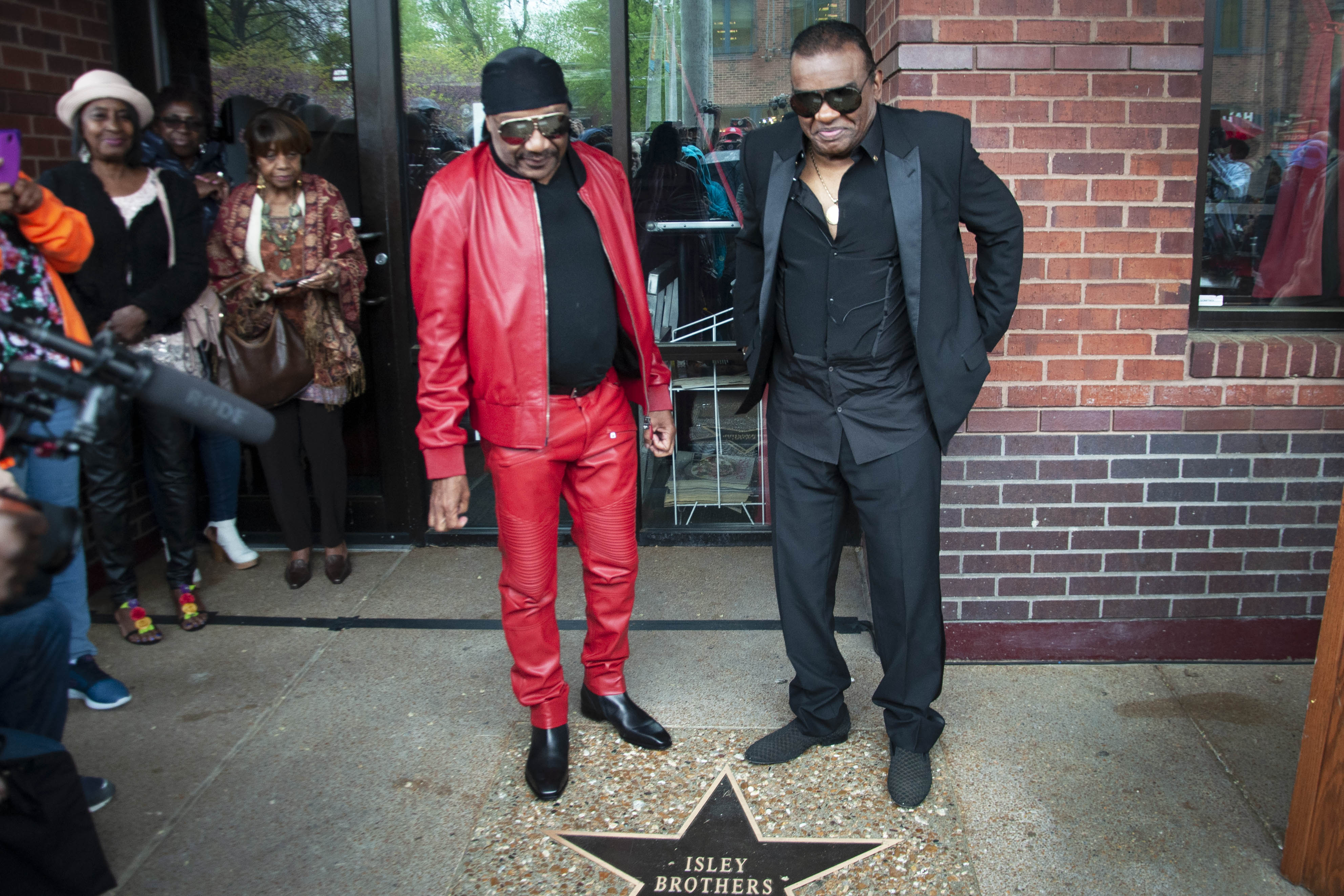 Isley Brothers Walk of Fame Star. Photo by KE Luther.
