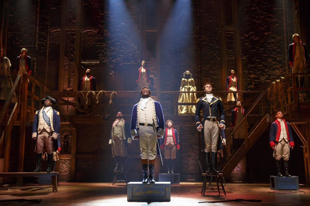 An image from the touring production of 'Hamilton,' photo by Joan Marcus