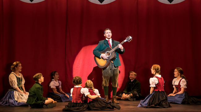 Mike McLean as Captain von Trapp and the von Trapp Family in 'The Sound of Music,' Photo by Matthew Murphy