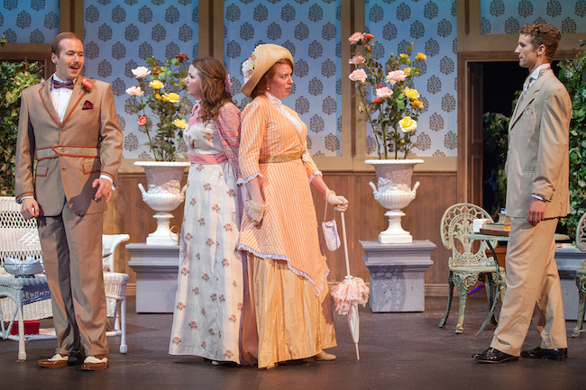 The very posh cast of 'The Importance of Being Earnest' at Insight Theatre July 13 – 22, Photo by John Lamb