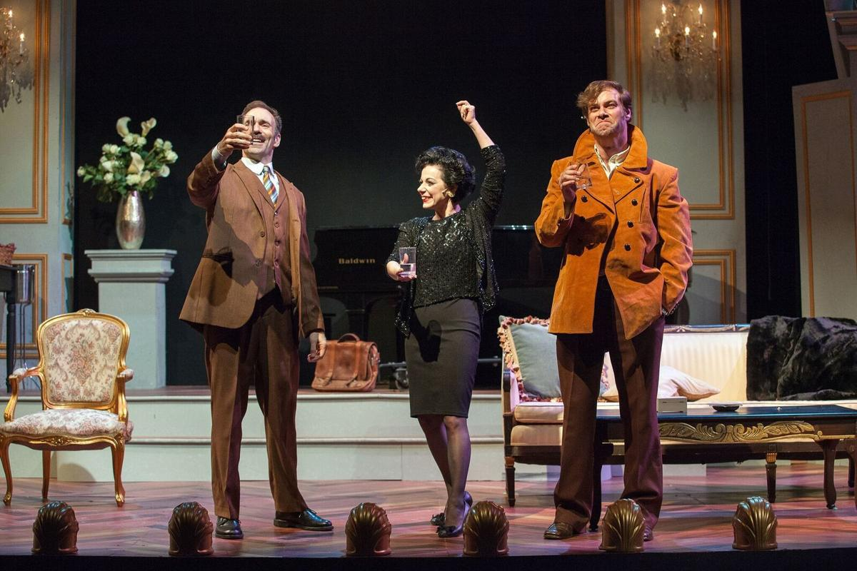 Thomas Conroy, Angela Ingersoll and Kyle Hatley in 'End of the Rainbow,' Photo by John Lamb