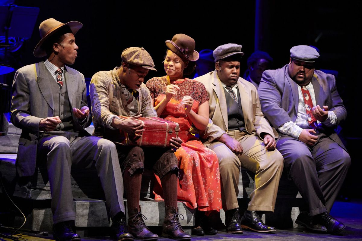 Photo from the play 'Bud Not Buddy' at Metro Theater Company, Photo by Dan Donovan