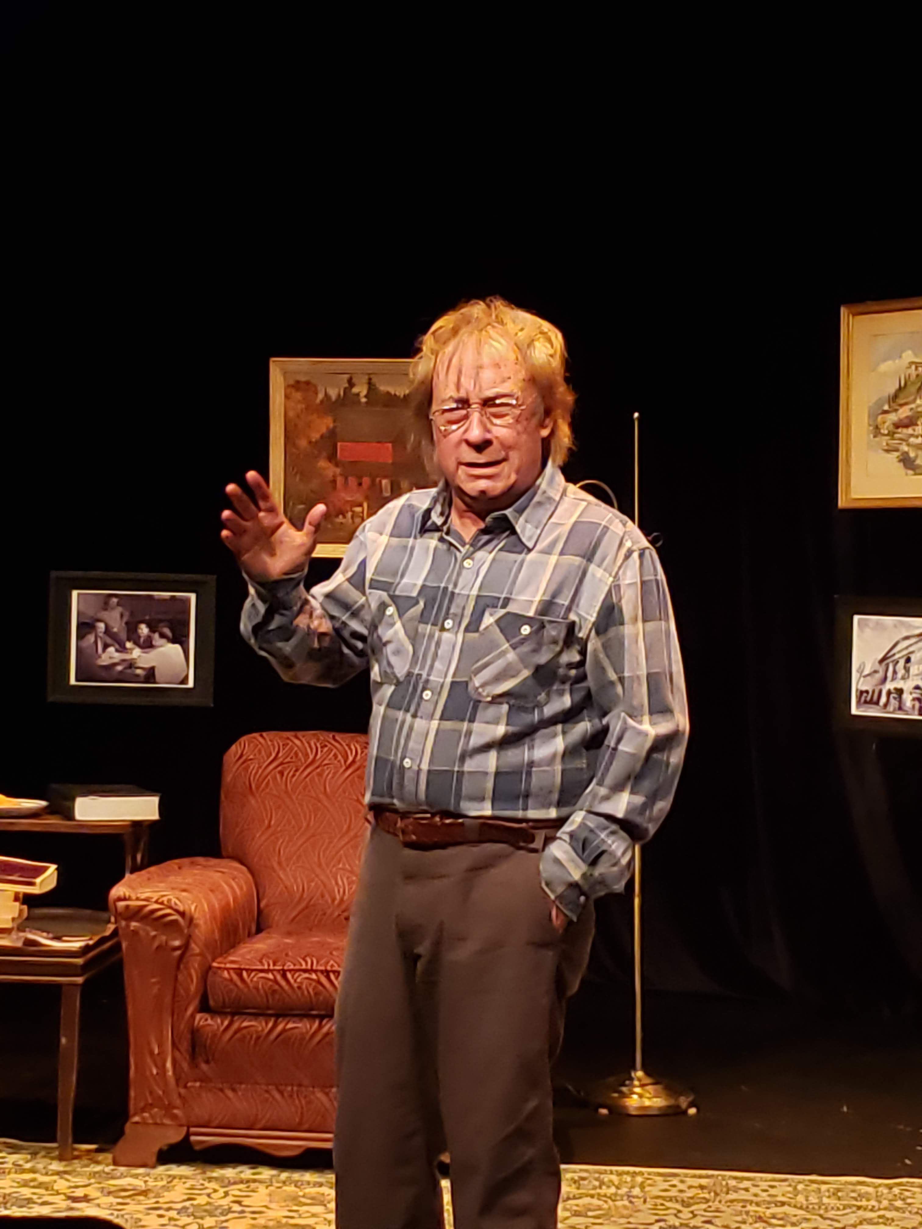 Photo of Joe Hanrahan in 'Charlie Johnson Reads All of Proust' courtesy of The Midnight Company.