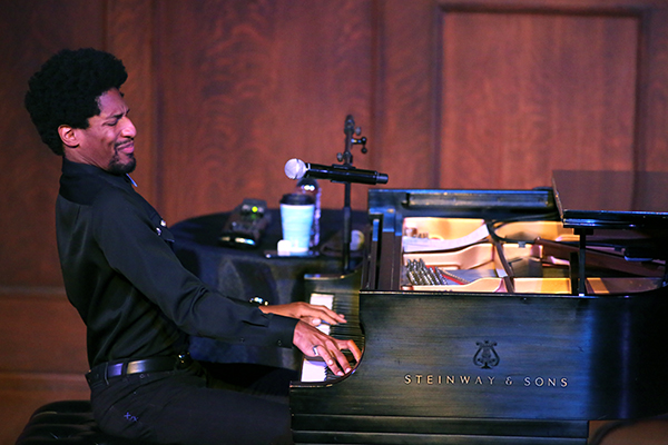 Jon Batiste at the Sheldon. Photo by Bill Motchan.
