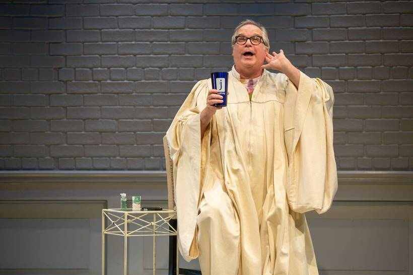'An Act of God' at the New Jewish Theatre, photo by Eric Woolsey