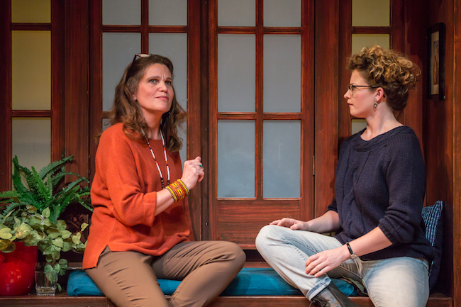 Amy Loui and Sophia Brown in 'The How and the Why' at the New Jewish Theatre, Photo by Eric Woolsey.