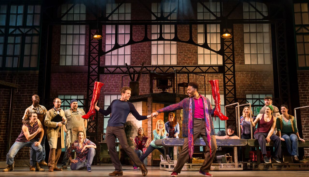 Photo from the touring production of 'Kinky Boots,' at the Peabody Opera House.