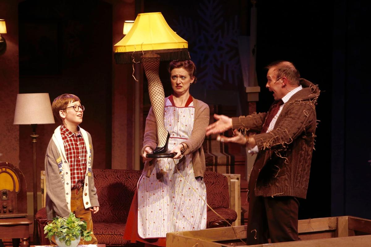 A scene from The Rep production of a 'A Christmas Story,' photo by Jerry Naunheim Jr.