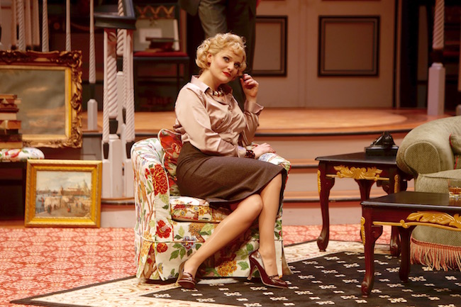 Ruth Pferdehirt in a scene from 'Born Yesterday' at The Repertory Theatre of St Louis, Photo by Jerry Naunheim, Jr