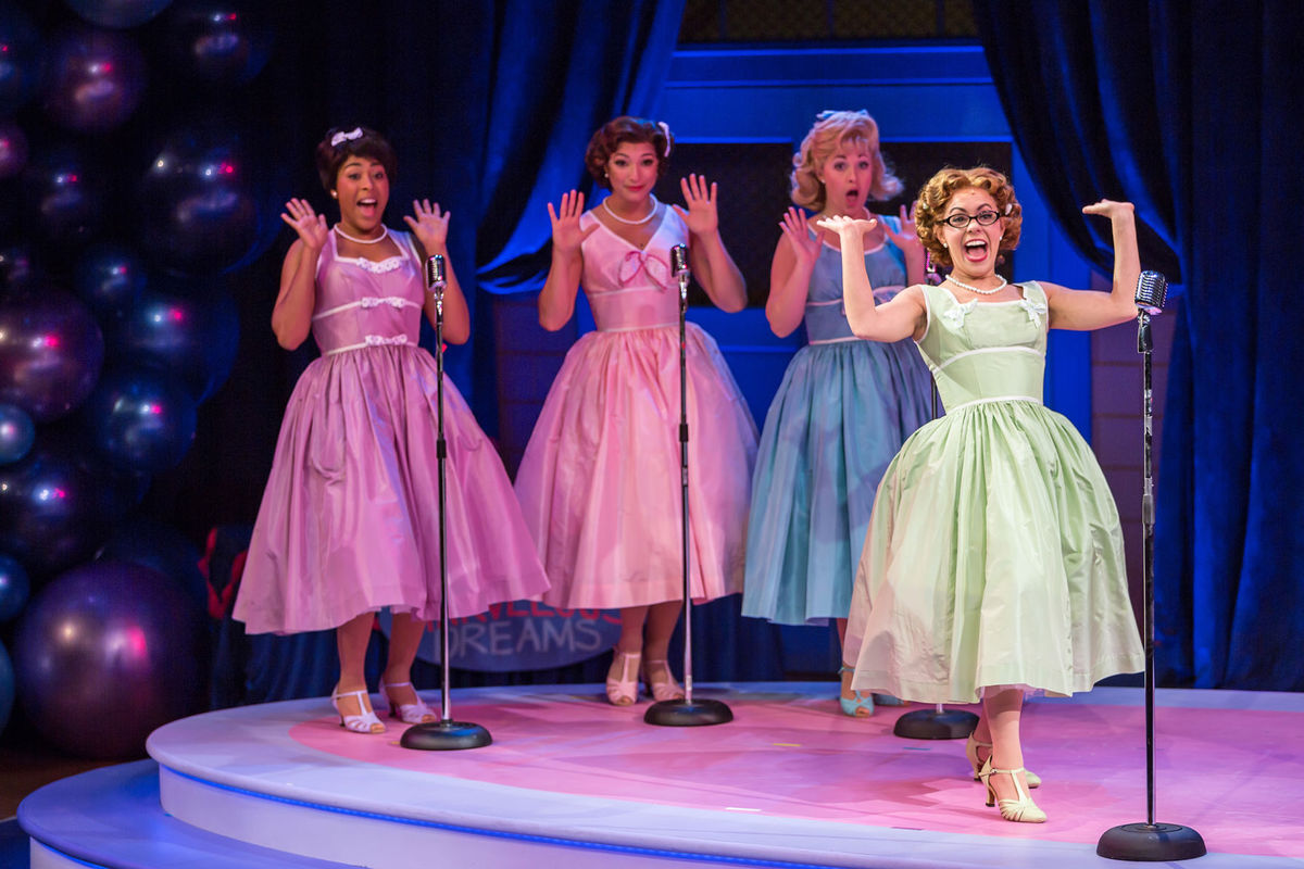 Photo from 'The Marvelous Wonderettes' at the Repertory Theatre of St. Louis.