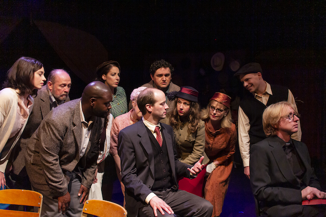 A scene from R-S Theatrics' compelling production of 'A Man of No Importance,' photo by Mr. Michael Young.