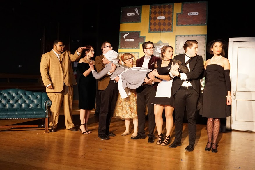 A scene from SATE's 'Classic Mystery Game' a comedy caper, Photo by Joey Rumpell