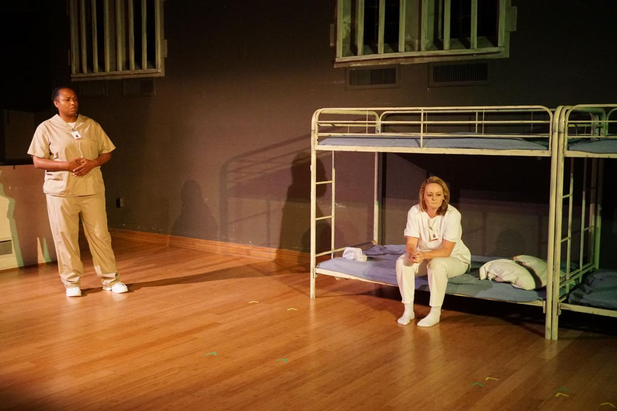 A scene from 'Run On Sentence' a play about incarcerated women, Photo by Joey Rumpell