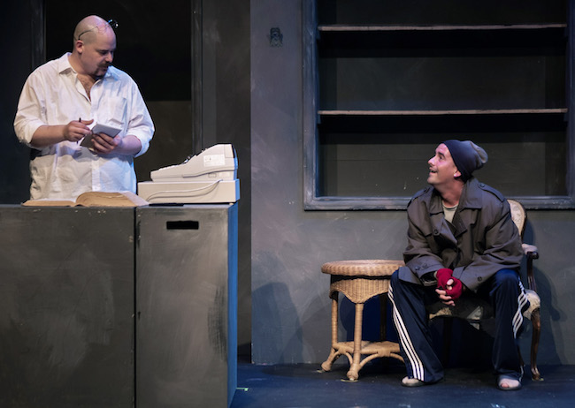 'Unabridged' by Sean Abley, Directed by Ryan Foizey, (l to r) Zak Farmer and Spencer Sickmann, Photo by Justin Foizey