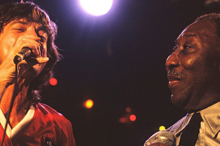 Mick Jagger with Muddy Waters. Story by KDHX Staff.