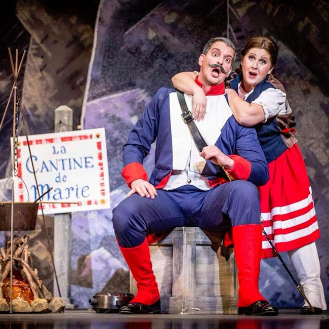 The light opera 'La fill du regiment,' is a satisfyingly musical romance, photos courtesy of Winter Opera St. Louis.