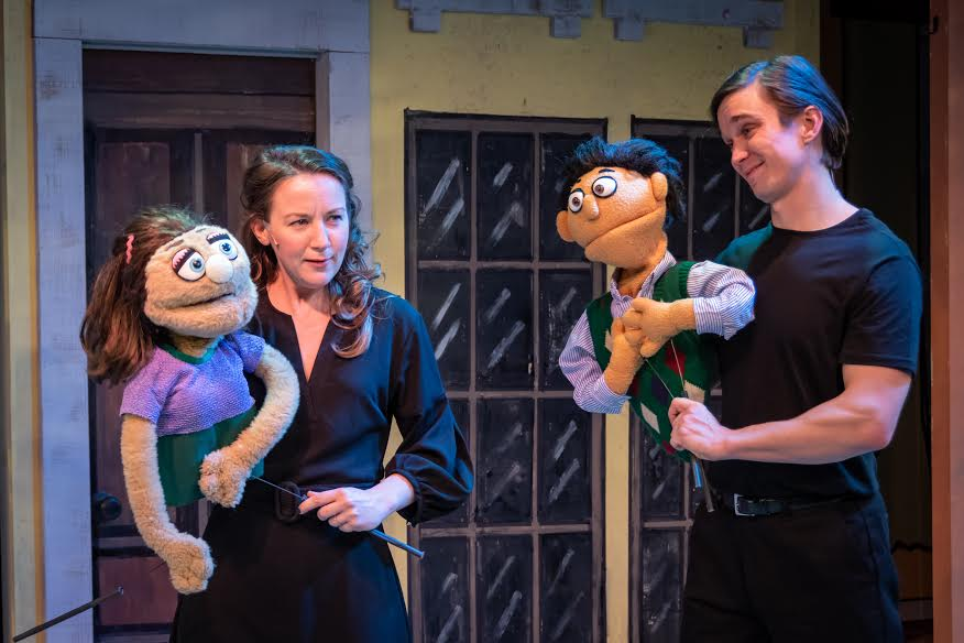 A scene from 'Avenue Q' at the Playhouse at Westport Plaza, Photo by John Flack