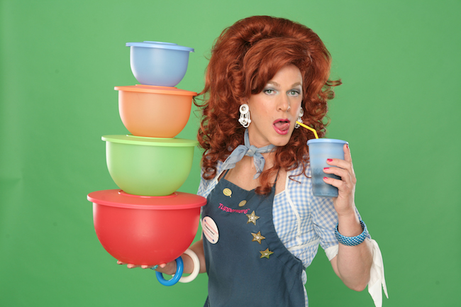 Dixie Longate brings her one-woman stand-up sales comedy, 'Dixie's Tupperware Party' to the Playhouse at Westport in St. Louis.
