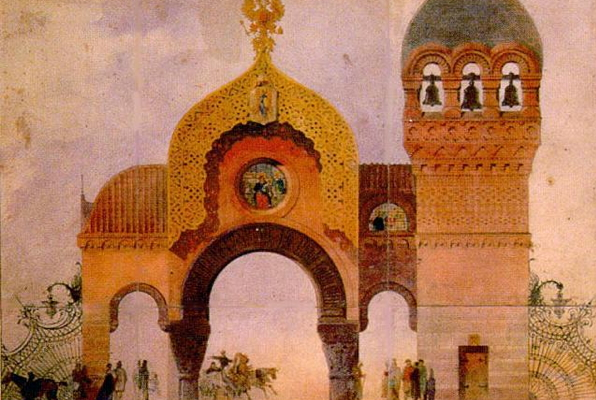 Plan for the Kiev city gate by Viktor Hartmann - Transferred from en.wikipedia to Commons.