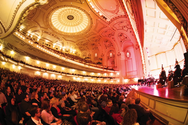 Powel Hall interior. Photo courtesy of the St. Louis Symphony Orchestra
