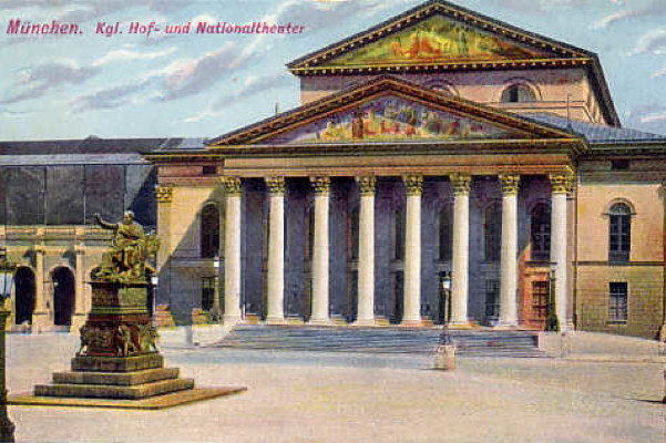 The National Theatre, Munich, 1900