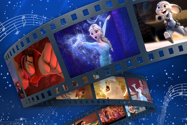 Images from Disney movies