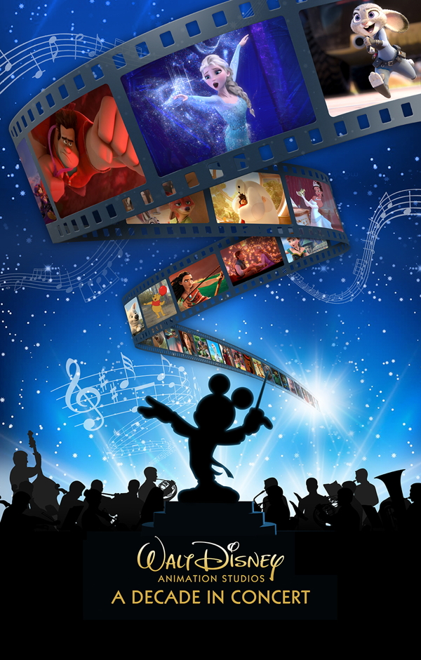 Poster for Walt Disney Animation Studios: A Decade in Concert