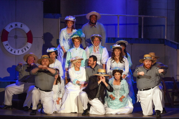 The cast of H.M.S. Pinafore