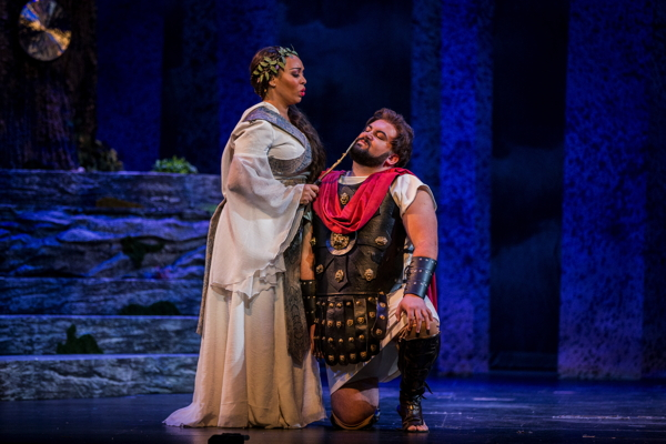 "Christine Lyons and Peter Drackley in ""Norma."""