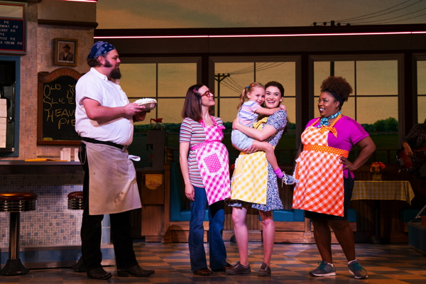 Memebers of the cast of Waitress. Photo by Philicia Endelman