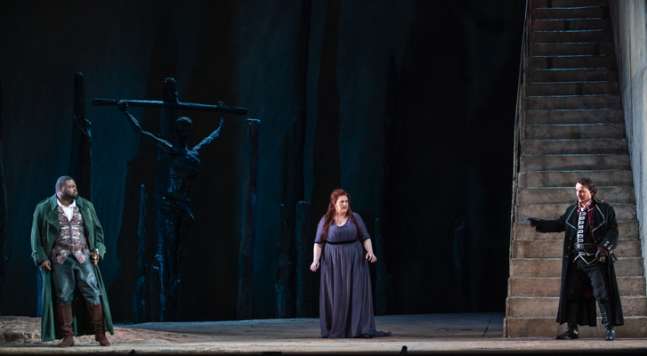 Three principal singers in Trovatore