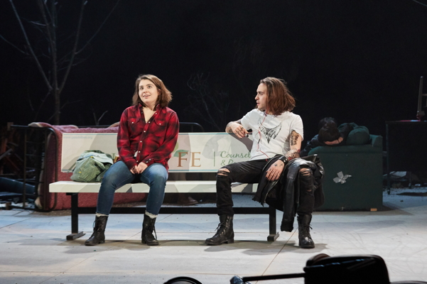 Suzy Weller and Luke F. LaMontagne. Photo by Bill Brymer