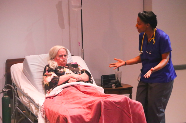 Kim Furlow and Jeanitta Perkins in Death Tax, photo by Jill Ritter
