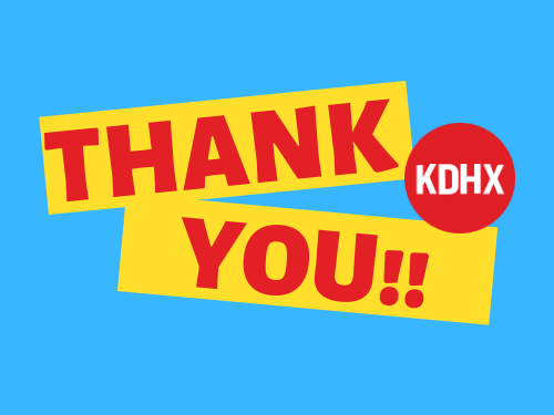 Thank you to all current and new donors! KDHX exceeded our goal for Spring Drive thanks to you!