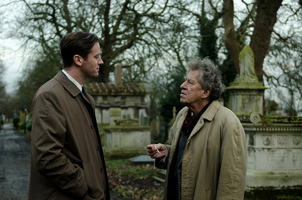 Geoffrey Rush and Armie Hammer in Final Portrait
